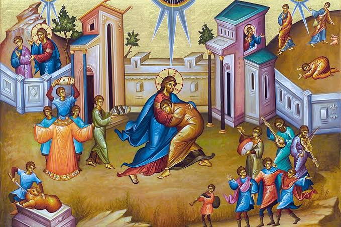 """Today 28, February is the Sunday of the #ProdigalSon. 👇 Kontakion """"O Father, foolishly I ran away from Your glory, and in sin, squandered the riches You gave me. Wherefore, I cry out to You with the voice of the Prodigal, """"I have sinned before You Compassionate Father......"""""""