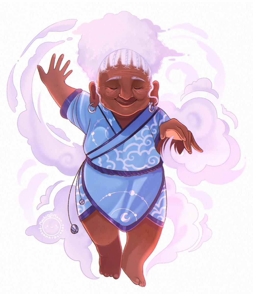 Nuvens curiosas, como são Se vestem de cabelo crespo, ancião