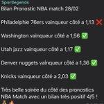 Image for the Tweet beginning: Bilan #nbaencore de super résultats