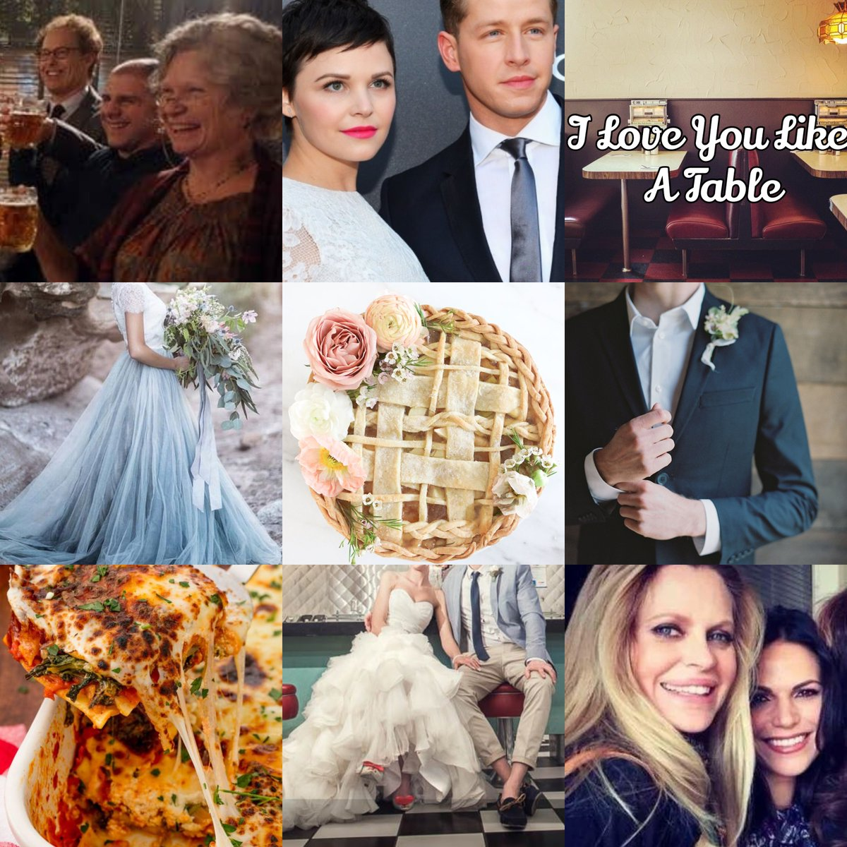 #Snowing's Wedding in Soft Place To Land (for @soIkoroIeva_)  No spoilers for OQ...but soon we'll see the union of the cutie pie Mary Margaret and the heir to the Nolan Dairy fortune, David. Regina caters, with a special pie: peaches, lemon juice and a dash of cinnamon.