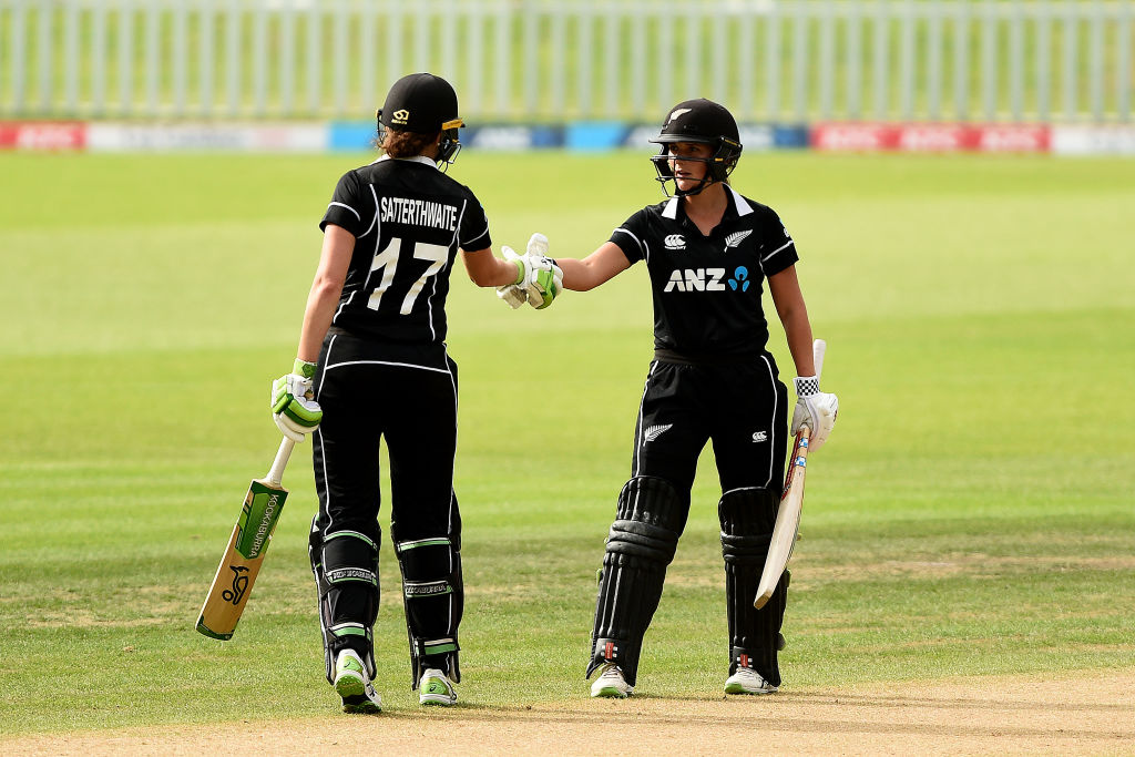 The unbroken 172-run stand between Amy Satterthwaite and Amelia Kerr is the highest fourth-wicket stand for New Zealand in women's ODIs 🔥  #NZvENG