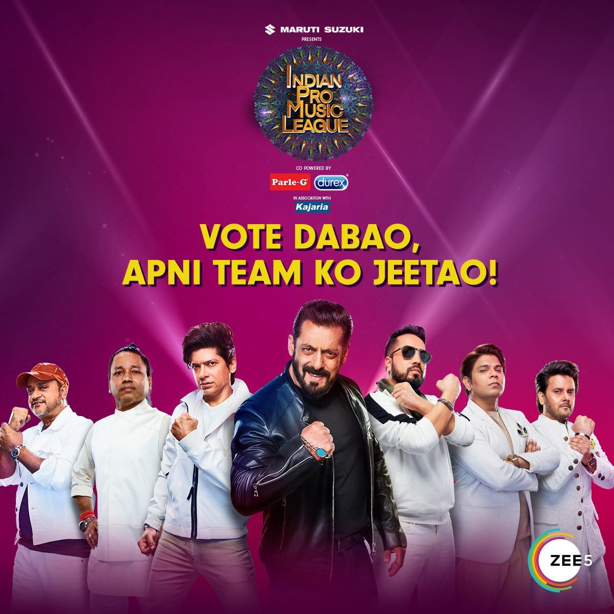 Aapko de rahe hai mauka apne favourite team ki nauka aage badhane ka. 🎶 Vote and win with your favourite team aur naara lagao #MusicUnchaRaheHamara. Watch #IndianProMusicLeague today on #ZEE5.  Vote: