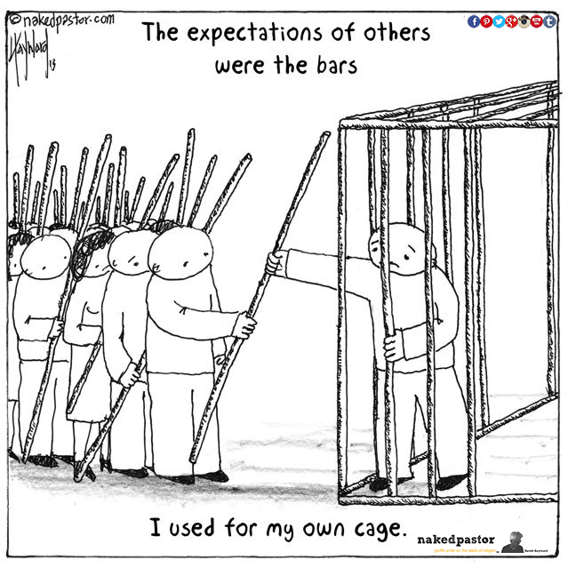 Don't cage yourself in...  #WednesdayWisdom