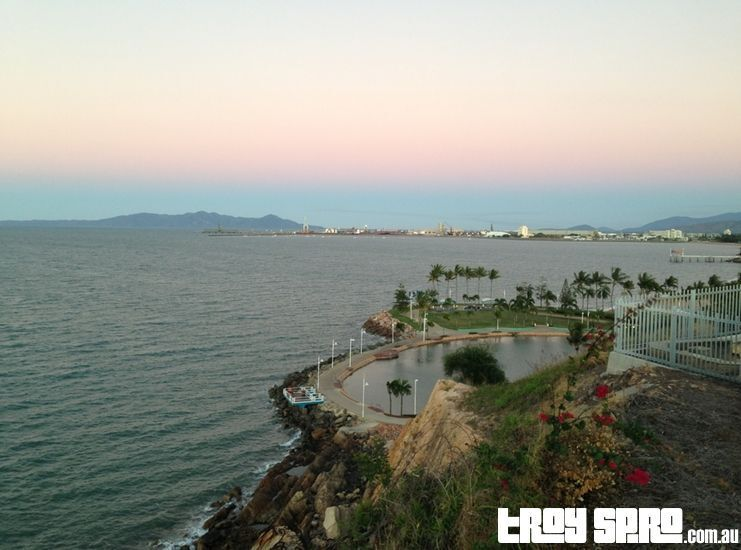 This is the amazing view you'll get looking over The Rockpool out to the Port.  This photo is taken from the top of Kissing Point in Townsville.  You can see more here >   #travel #ttot #townsville #queensland #kissingpoint #rockpool #trip #australia