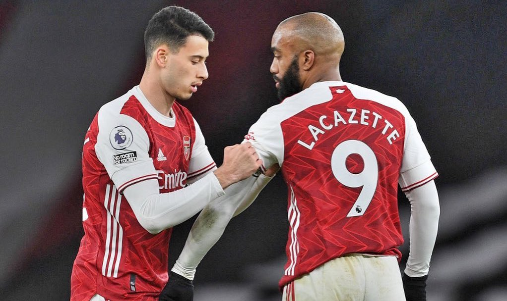 Alexandre Lacazette captains the Arsenal side against Leicester today. #afc