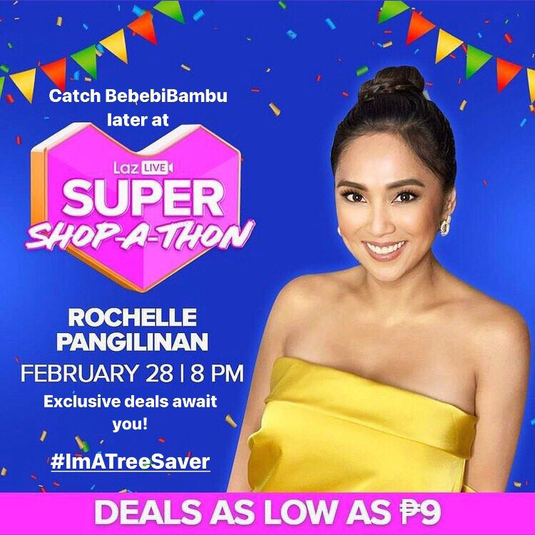 Catch @babebibambu TODAY at @lazadaph 's first LazLive Super Shop-a-thon on Feb 28, 8PM on the Lazada App!!! Exclusive deals await you! 🚨 #LazLiveSuperShopathon  Stop wiping with trees here 👉🏻   Choose tree-free. #LazadaPH #Lazada #Sustainable