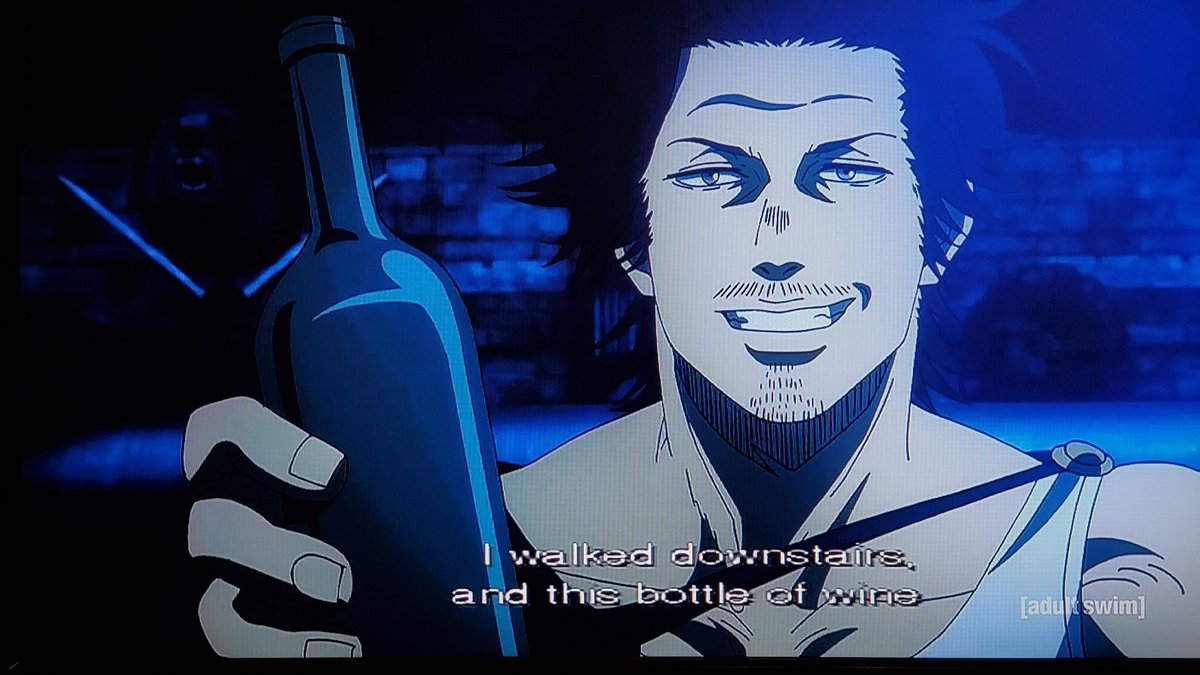 .@JustChrisSabat Who wants to have wine all night with Yami?🍷We're on episode 140 on #Toonami next week #BlackClover