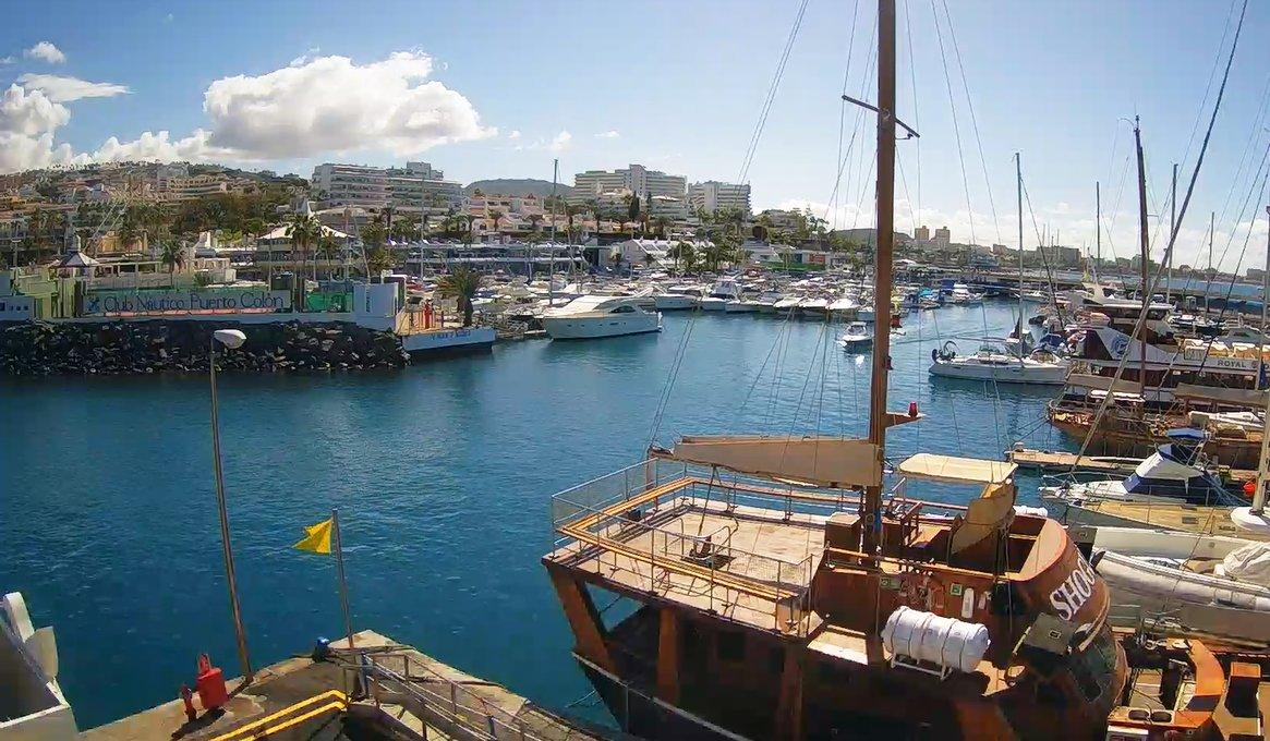 ¡Muy #buenosdías y #FelizDomingo para todos! Así de soleada está la mañana en el #PuertoColón  (@costa_adeje) a las 11:50. Have a nice day! - #Tenerife #Teneriffa #Тенерифе  #SundayVibes #Marr - #28Febrero - #DiamundialEnfermedadesRaras #Tenerifeliz -