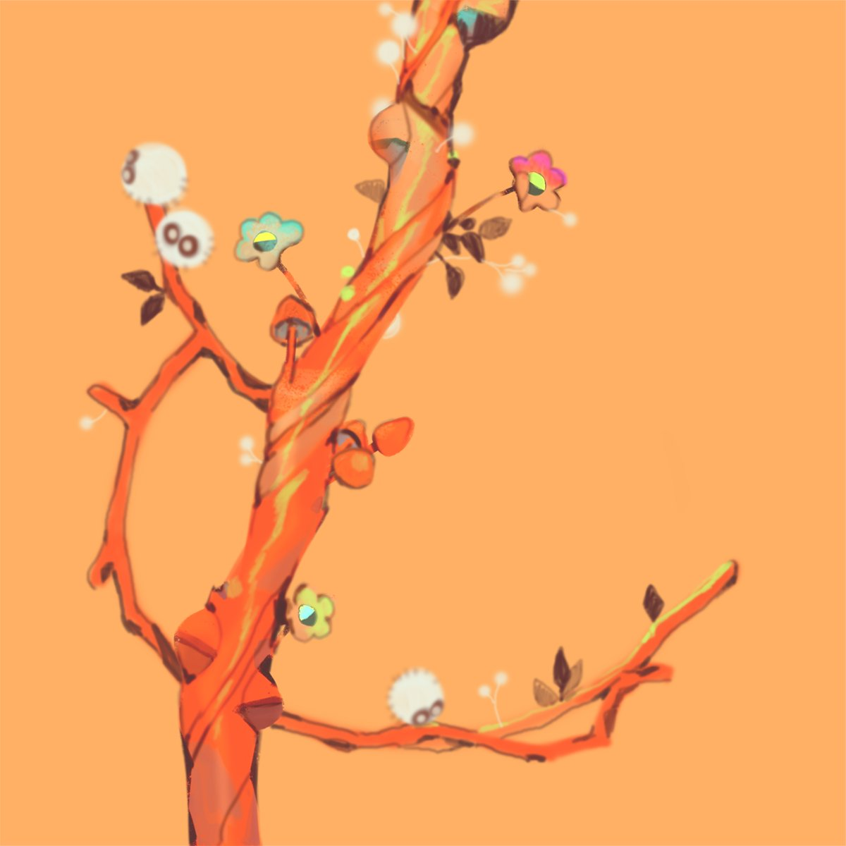Branch Orange and Branch Green; scattered debris becoming home for little things....
