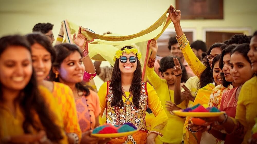 Haldi ceremony is an integral part of Indian Weddings and is full of traditional Hindu rituals and customs.    #weddingplanner  #luxury  #beautiful #badhaihoevents #badhaiho #haldi #weddingz #haldiceremony #weddingday #wedding #brideandgroom  #love #weddings