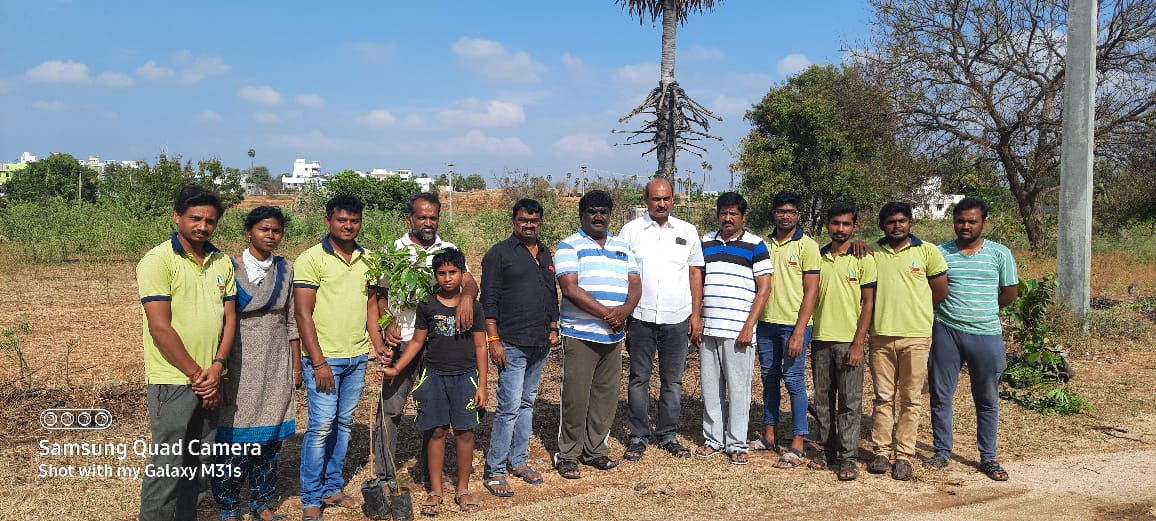 On behalf of Namma Tiruchengode Foundation have planted 50 trees in Tiruchengode at Sepparai  #NammaTiruchengode #TN34 #tiruchengode #ntf #treeplanting #nammakkal #greenindiachallenge