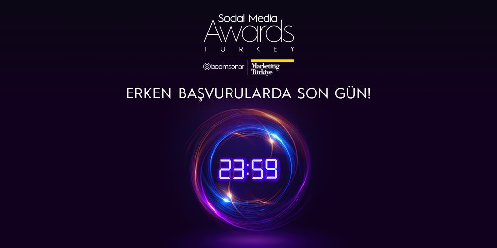 Social Media Awards Turkey indirimli erken başvuru dönemi bugün sona eriyor! Başvurularınızı saat 23.59'a dek tamamlayın, indirimden yararlanın. Yarışmaya son katılım tarihi ise 31 Mart!  Başvuru adresi:   #SMAT2021 #sosyalmedya #dijitalmedya