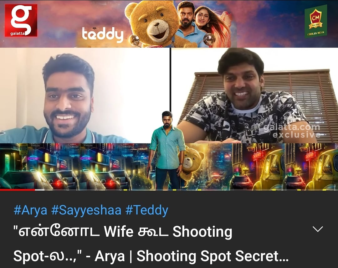 Semma cool interview with @arya_offl brother in @galattadotcom !! #Arya #galattatamil #anchor #actor #interview #Hashtag #funny #cool #SocialMedia   Video link: