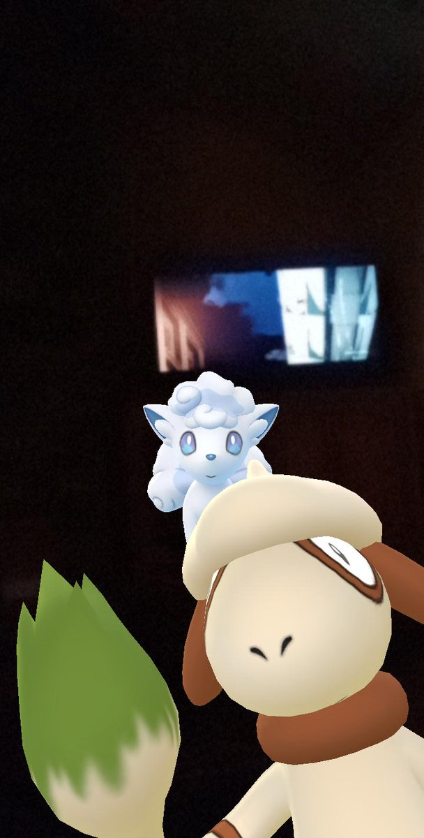 Watching some Attack in Titan with my buddy and Smeargle too apparently ♥️🎉 #Pokémongo #Toonami