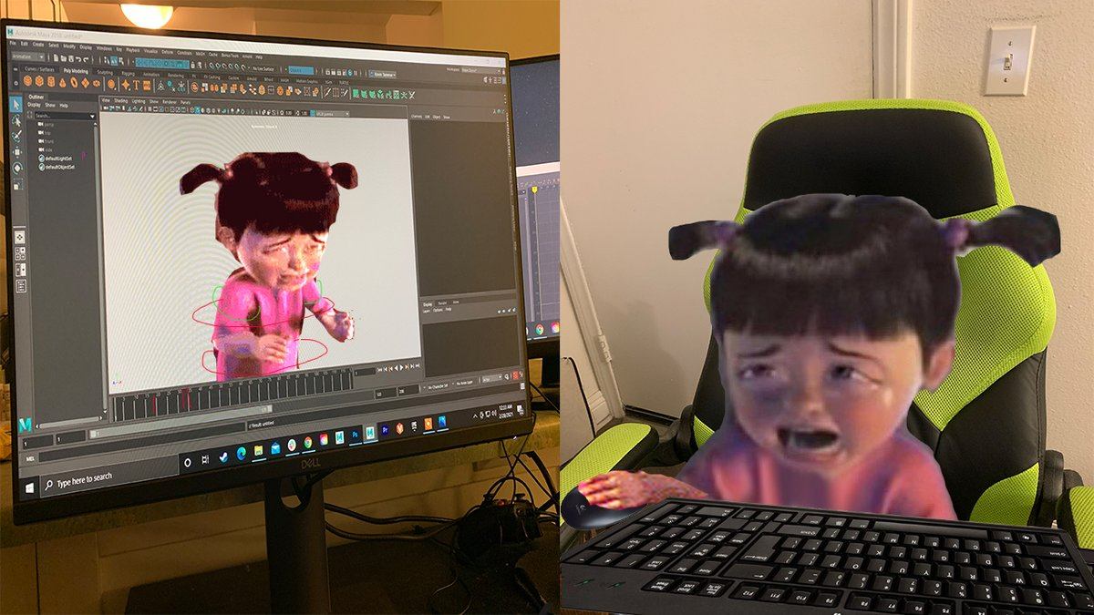 When you're animating a character that's crying