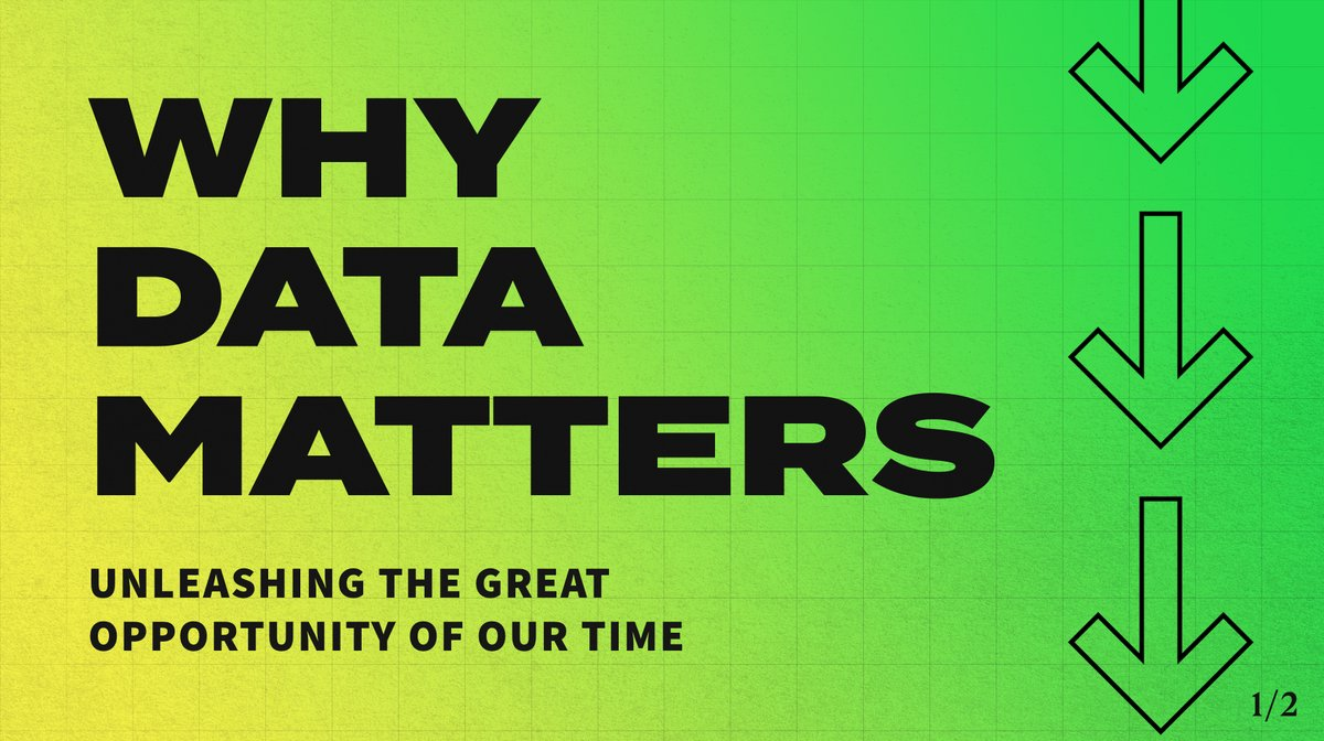 I want to set a bold new approach: one that no longer sees data as a threat, but as the great opportunity of our time.