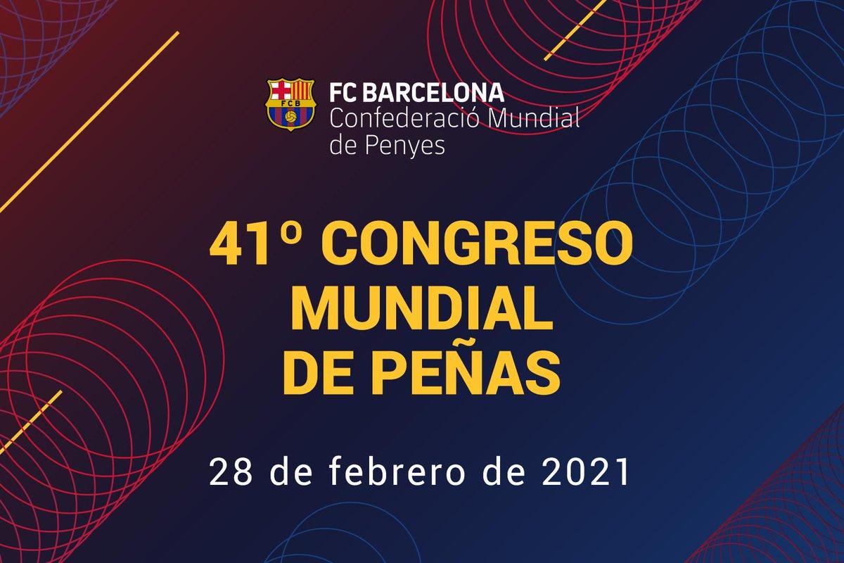 [EN DIRECTO 📺]  Sigue el 41º Congreso Mundial de @FCBPenyes 🔵🔴 👉  #ForçaBarça
