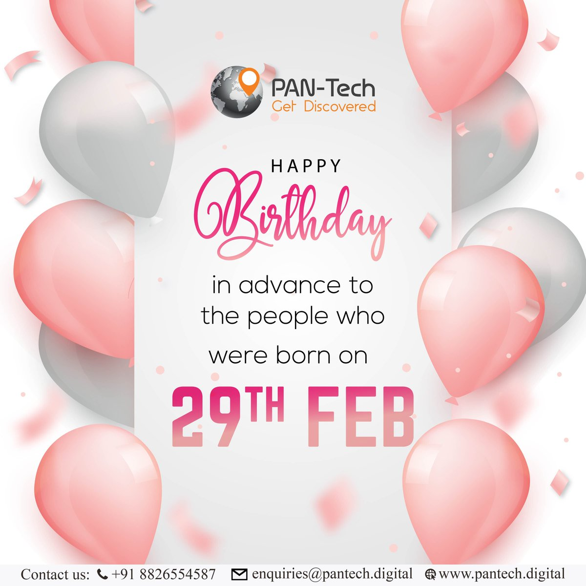 Tag that friend who is in the social dilemma about either to celebrate birthday on 28th of feb or 1st of march.  #Creativeads #Digitalmarketing #Digitalmarketingagency #digital #PantechDigital #marketing #digitalmarketingtips #SocialMediamarketing #socialmediamarketingtips