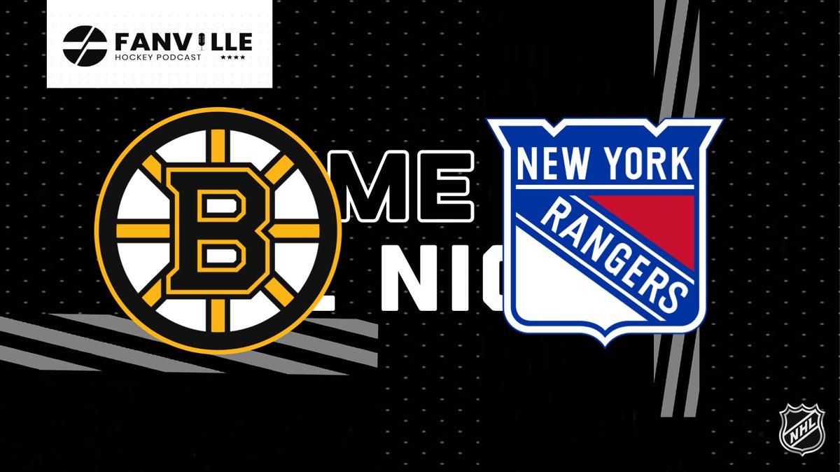Game Of The Night  BOS Vs. NYR #growthegame  #boston #bruins #bostonbruins #bos #newyork #rangers #nweyorkrangers #nyr #bosvsnyr #nhlonnbc #sportsnet #hockey #nhl #NHL #fanville #fanvillepodcast