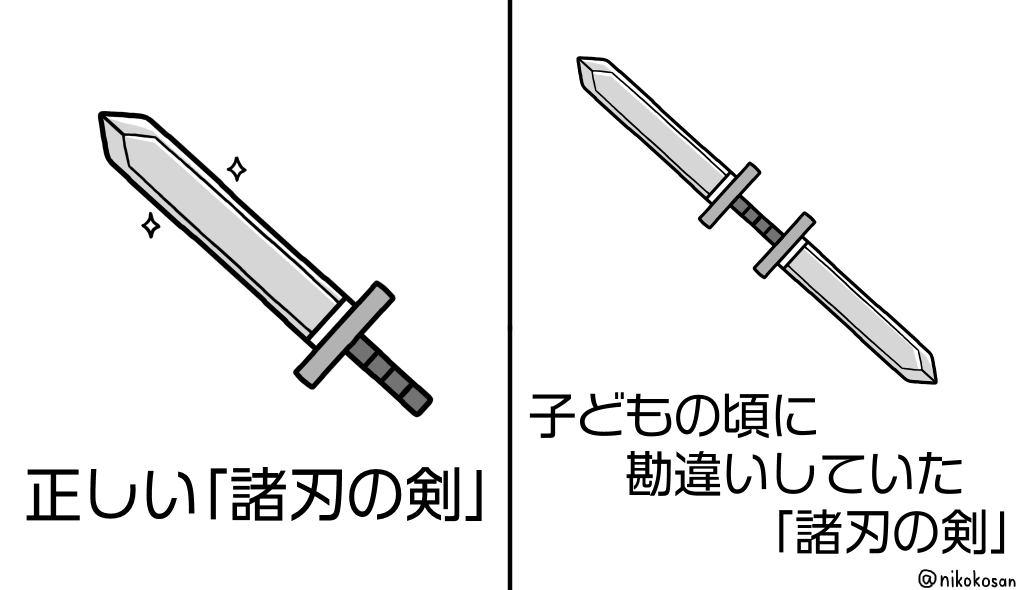 の 剣 意味 諸刃