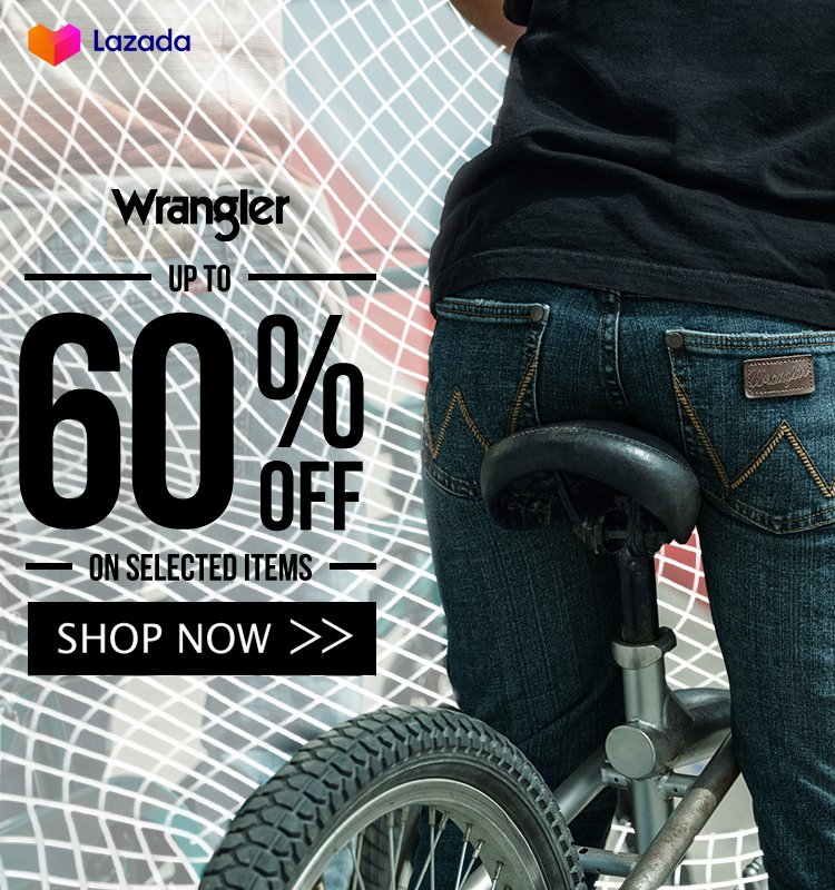 ‼️Wrangler up to 60% OFF‼️ 🛒SHOP NOW!➡  🛒SHOP NOW!➡   🚚Cash on Delivery  **Price is subject to change without prior notice  #LazadaFinds #LazadaPH #LazadaxKathryn #LazadaxLMH  #payday #sale #NasaLazadaYan #shoponline