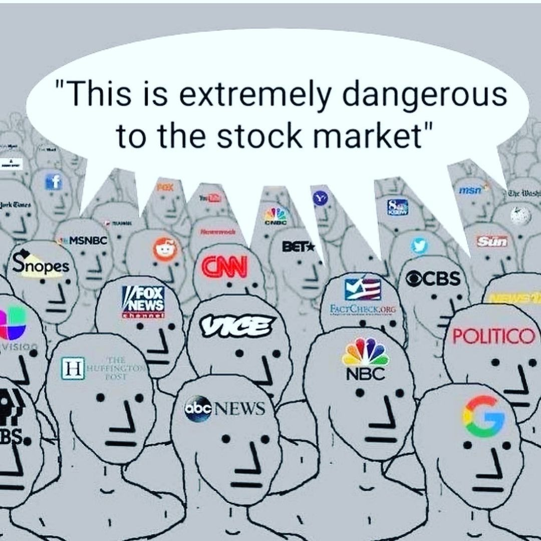 Dangerous they say....  What's your thoughts on the stock market lately ??  Come join our discord for option and stock signals   #gme #gamestop #wsb #wallstreetbets #blackberry #stockmarket #stonkmemes #trendingmemes #trending #teenmemes #robinhood #webull #finacialmemes #bernie