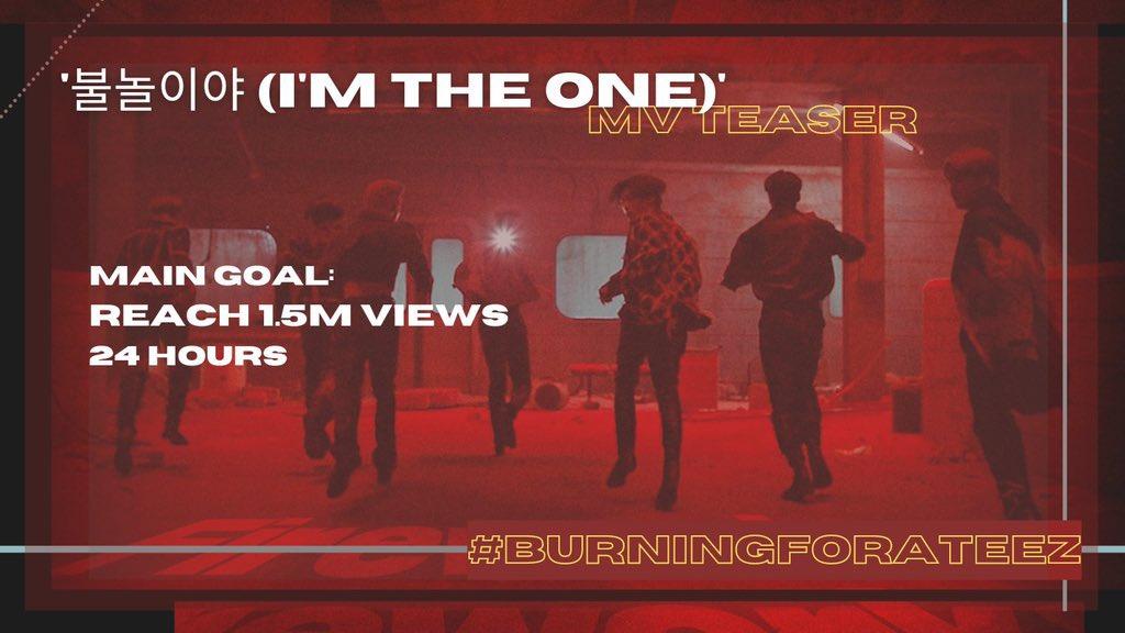 [📢] ATINY!! ATEEZ – ¡El Teaser de I'm The One  finalmente está aquí! Manténgase haciendo stream así logramos nuestra meta más rápido✨  🖇   ATEEZ A TEASER  #BURNINGFORATEEZ #ATEEZ   #에이티즈   #FEVER_Part_2 @ATEEZofficial