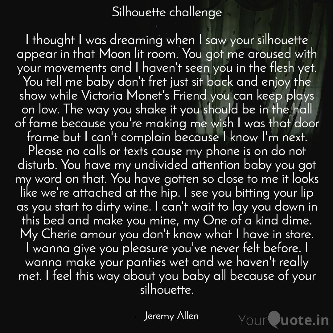 Silhouette challenge By @TYRONEBLIC   #love #silhouettechallenge #poetry #sexy #tiktok #poem #poetrycommunity #yqbaba    Read my thoughts on @YourQuoteApp at