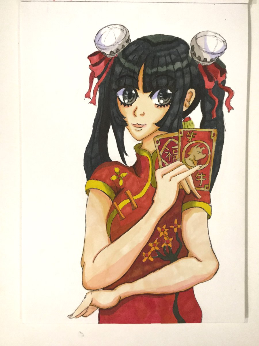 Lunar New Year girl 🧧🏮  This is a very generic character design I created a few days ago. I uploaded it on my Instagram on the last night of Lunar New Year to wrap up the holiday.   #lunarnewyear #chinesenewyear #originalcharacter #oc #angpow #traditionalart