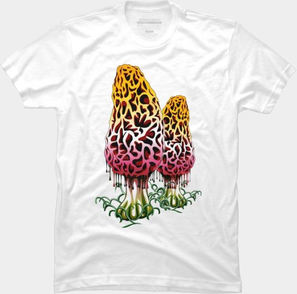 Mushroom Colors @designbyhumans by @Boby_Berto  #mushroom #colors #cute #vector #rainbow #plant #nature #botany #tshirt #tshirts #tshirtdesign