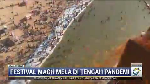 Ribuan masyarakat India merayakan Festival Magh Mela di Sungai Sangam. Magh Mela merupakan ritual penebus dosa bagi umat Hindu yang berlangsung selama 45 hari. #HeadlineNewsMetroTV #KnowledgeToElevate