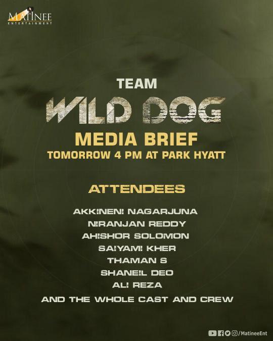 Nag's #WildDog Release announcement tomorrow.