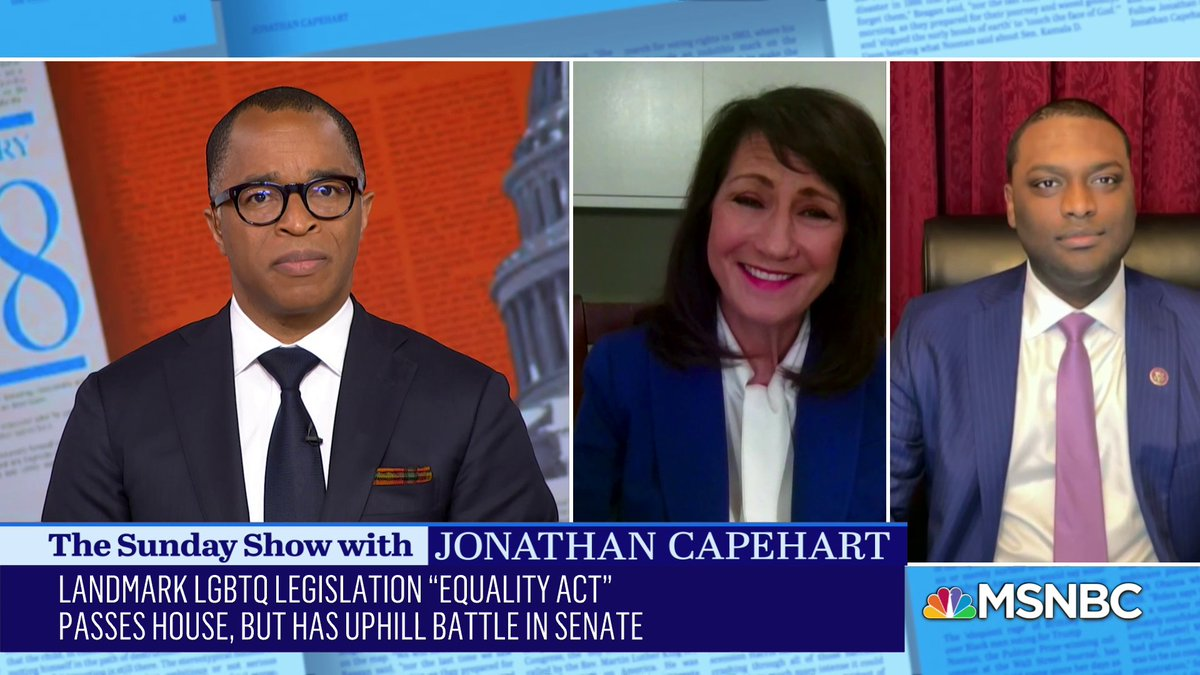 """.@CapehartJ asks Rep. Marie Newman (@Marie4Congress), """"Is Marjorie Taylor Greene as hateful in real life as she comes across on television?"""" #SundayShow"""