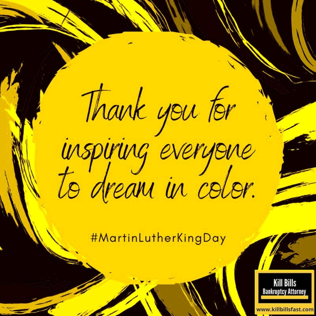 Thank you for inspiring everyone to dream in color. #MLKDay #MartinLutherKingDay