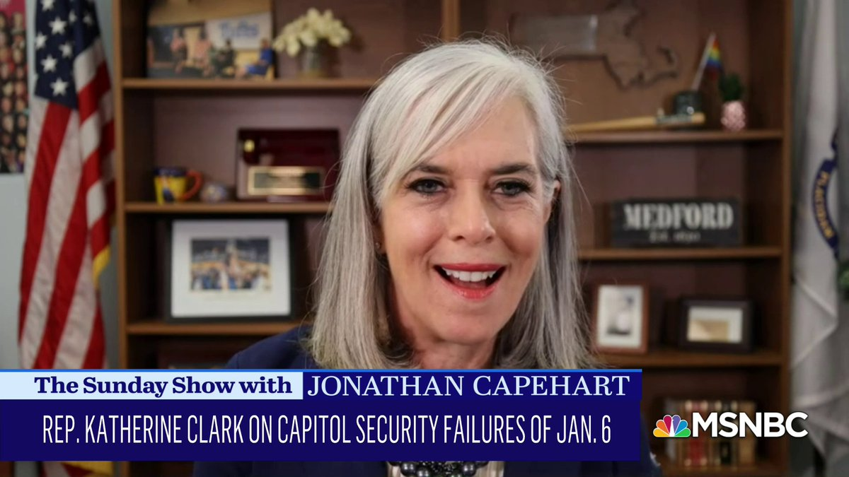 """.@RepKClark on Rep. Marjorie Taylor Greene's statements and actions """"pushing back"""" on the Equality Act. #SundayShow"""