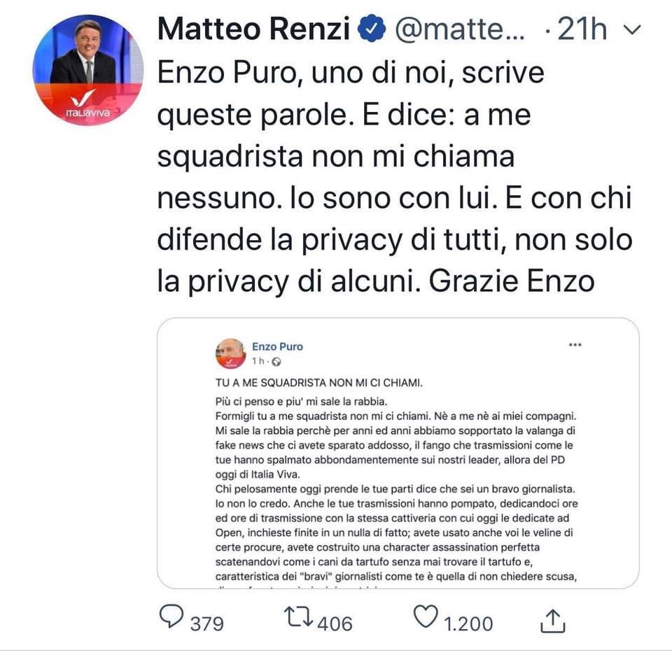 #RenziIntervistaRenzi