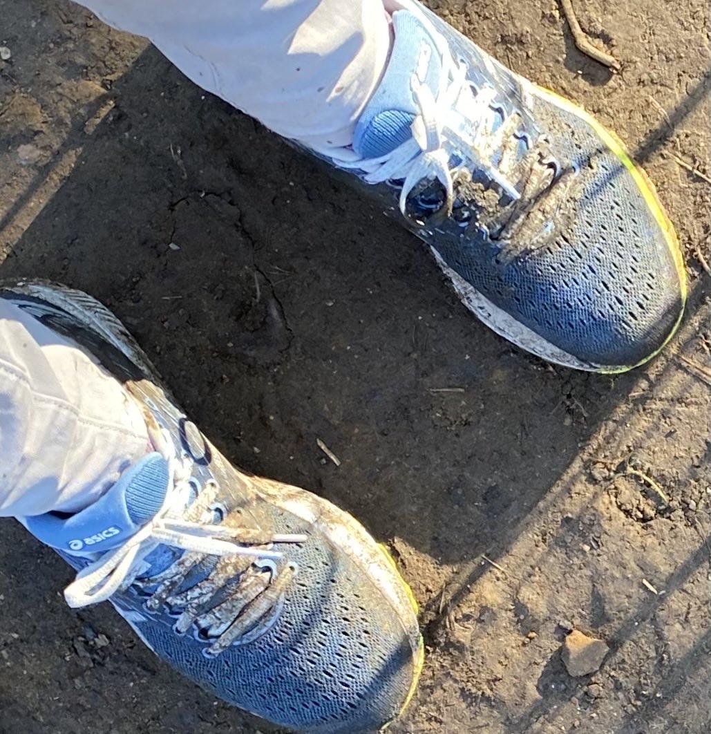 Slightly underestimated the mud on today's walk! #sunday #walking #sunshine #muddyshoes