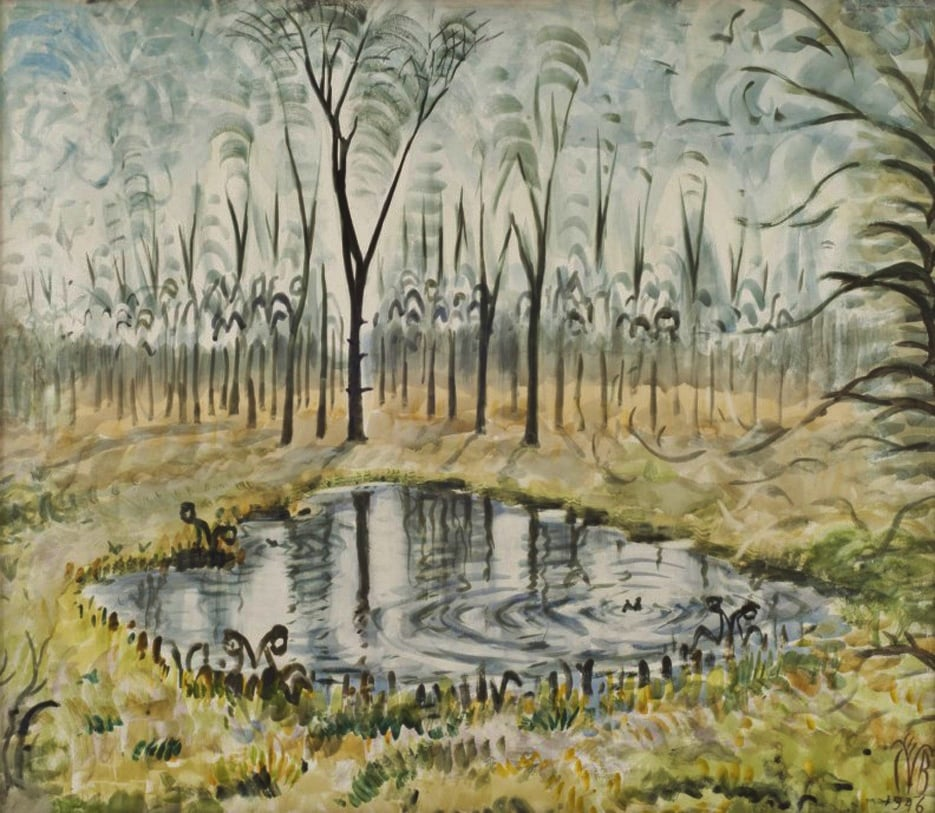 """Good morning, people. Charles Burchfield, """"Song of Spring"""", 1946, Watercolor on paper, 24 5/8"""" x 28 3/4"""" https://t.co/tWj68Xf9iK"""