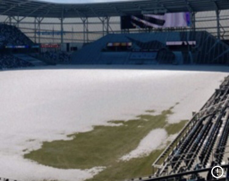 Photo: While Minnesota has been a snow-globe on Sunday, it's worth pointing out Allianz Field in St. Paul had patch of grass on Saturday.   Spring is coming, and so are #Loons. https://t.co/mGvuW1v56F