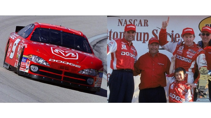 Bill Elliott won the 2001 Pennzoil Freedom 400 @HomesteadMiami. 🏁 It was Ray Evernhams first win as a car owner. Young @chaseelliott was impressed! #AwesomeBill 🏁