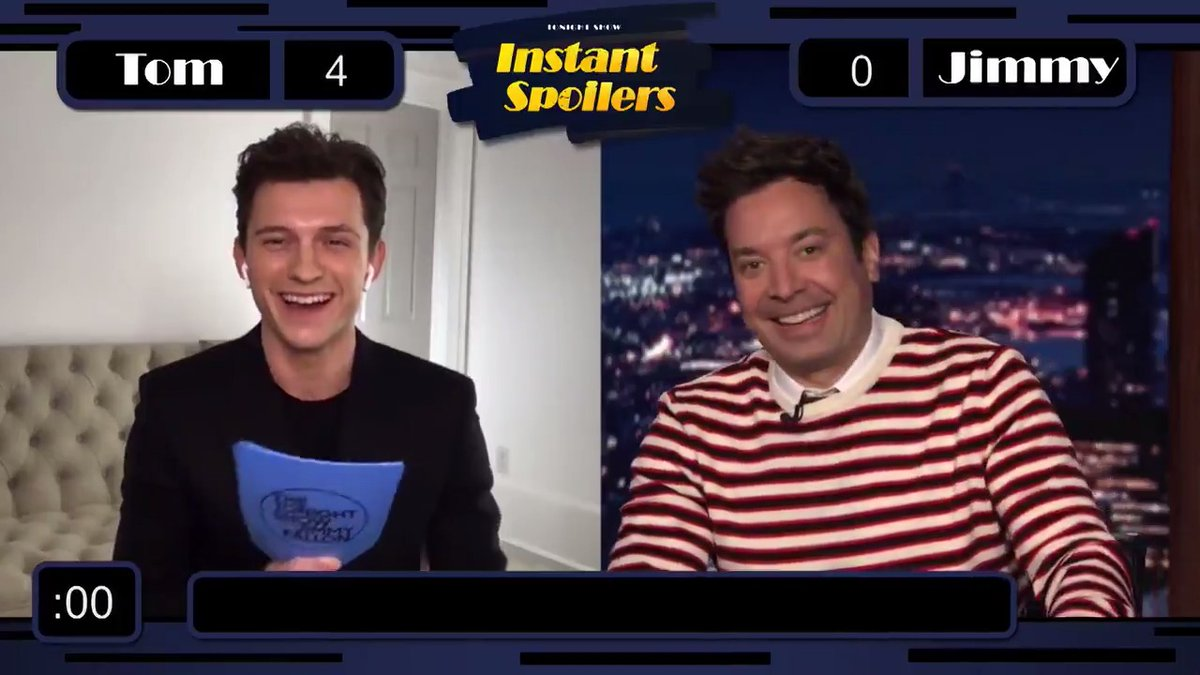 Jimmy & @TomHolland1996 team up for Instant Spoilers!