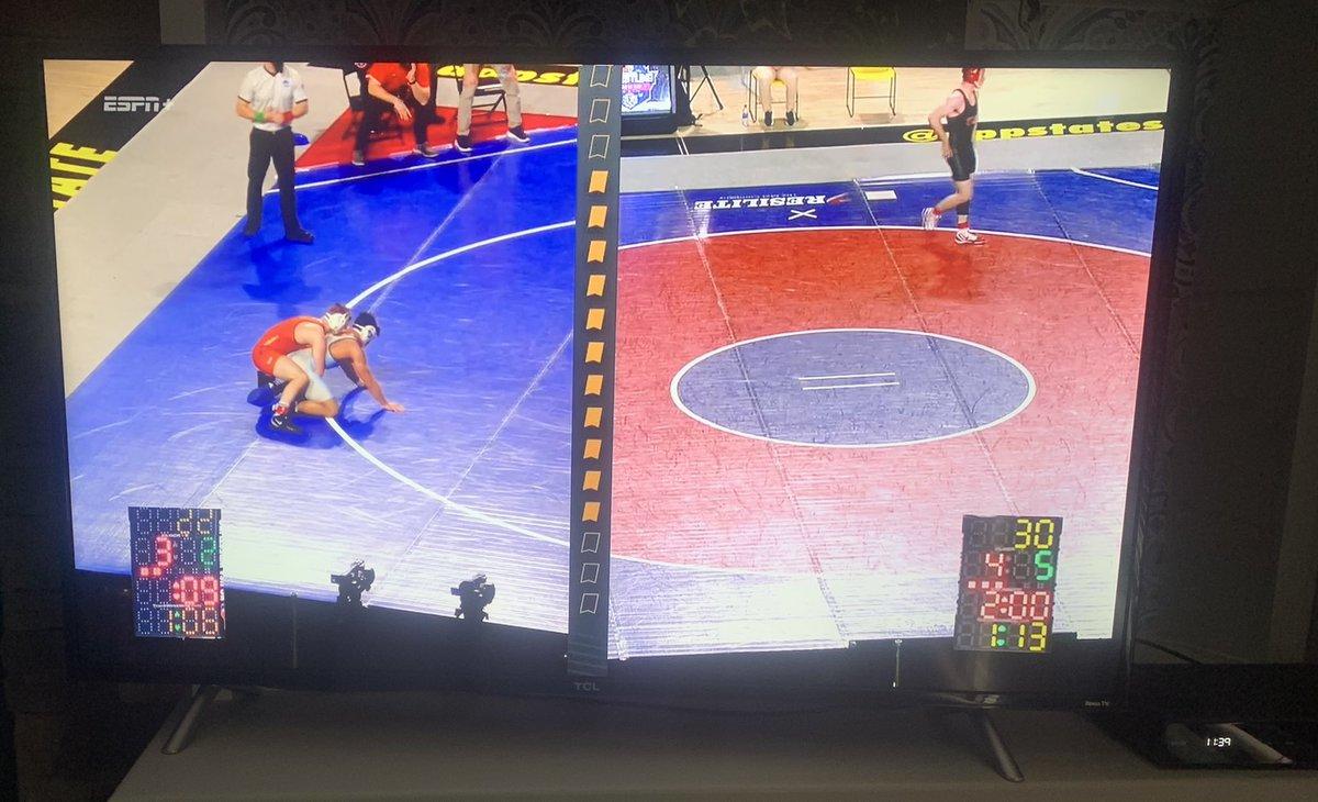 Rainy Sunday watching some @SoConSports wrestling action on #ESPNPlus
