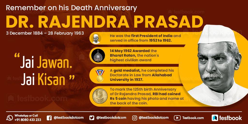 Remembering the first President of India, Rajendra Prasad on his death anniversary #RajendraPrasad #PresidentofIndia #OnThisDay #currentaffairs #dailycurrentaffairs