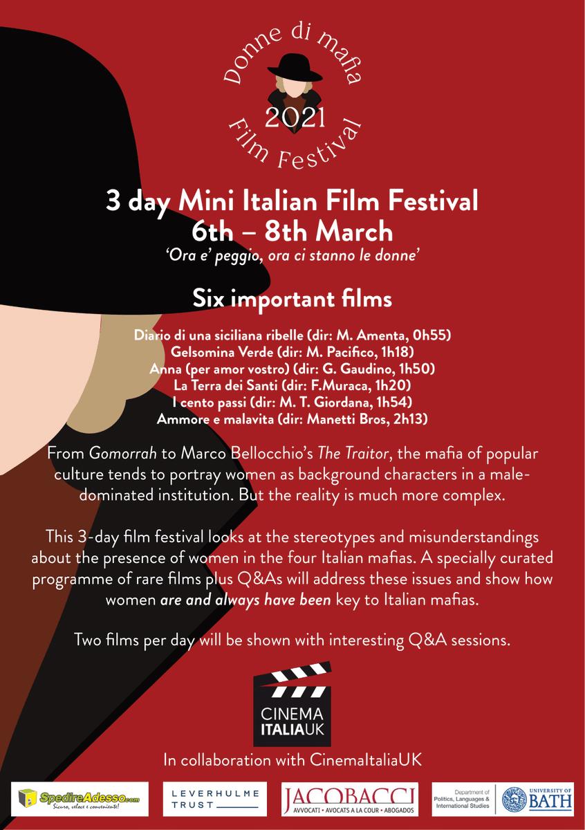 📅Save the date! #Womeninmafia Film Festival! 6th-8th March 2021