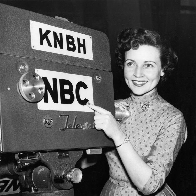 Betty White, as a 27-year-old TV host - 1949  #photography #yeolde #actor #bettywhite