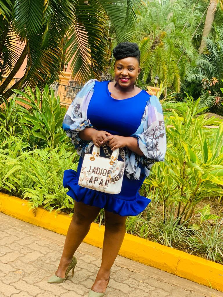 Blue skies  Smiling at me  Nothing but blue skies on blue thread! Girl you make plus size look 🔥  #KarungiHouseofFashion #love #cute #FashionDesigner