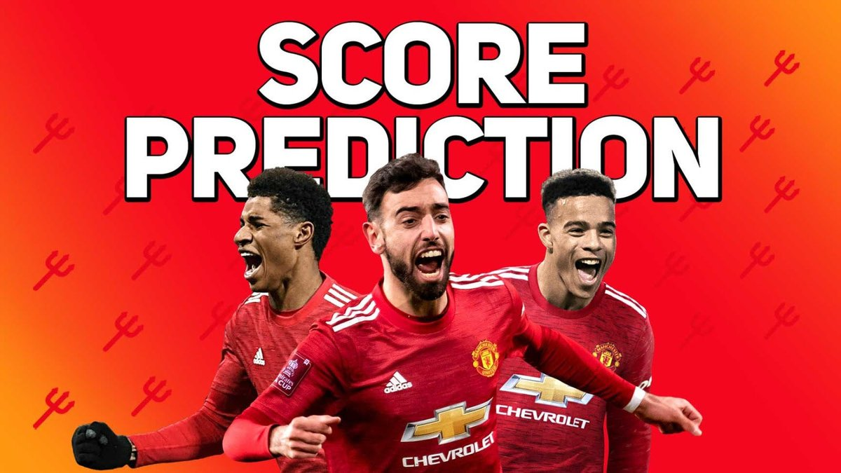 Score Predictions: Chelsea vs Manchester United [@jamie_ward84]  #MUFC  Details below ⬇️