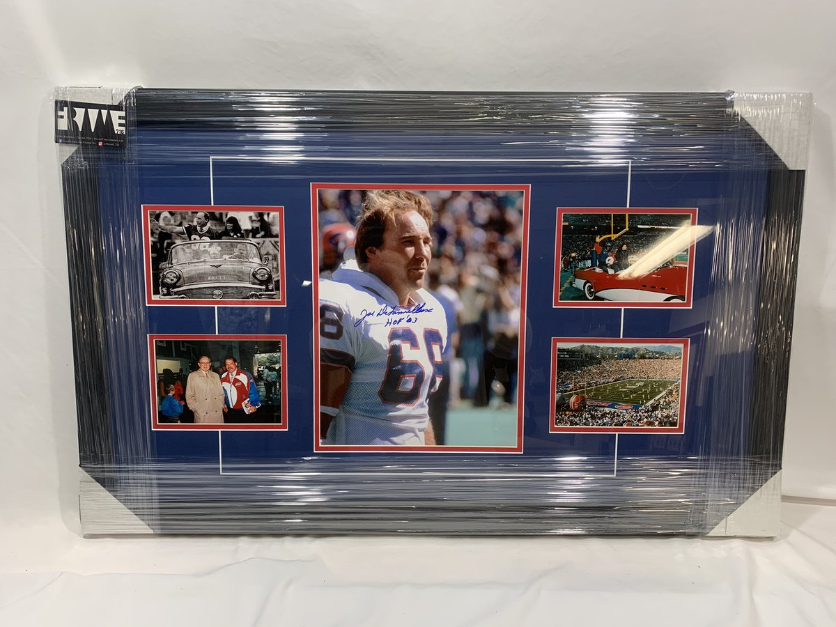 Christmas gift for a friend who's dad is a huge Joe D fan and drove the car around the field on Wall of Fame days!  #billsmafia