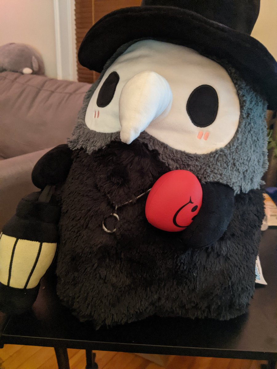 The cutest plague doctor just looking for love @squishable #cute