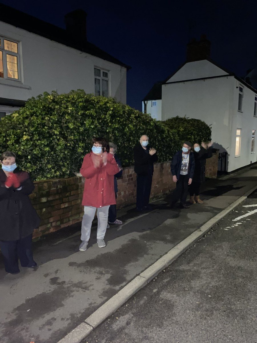 White Acres in #Shepshed joined the nation last night to pay tribute to Captain Sir Tom Moore, by clapping from their doorstep!  Thank you Sir Tom, you will be missed! ❤  #ThursdayThoughts #ClapForCaptainTom